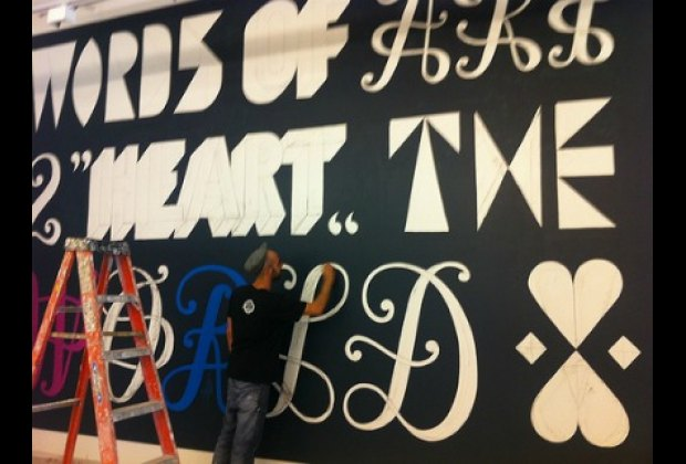 Word mural by Remed