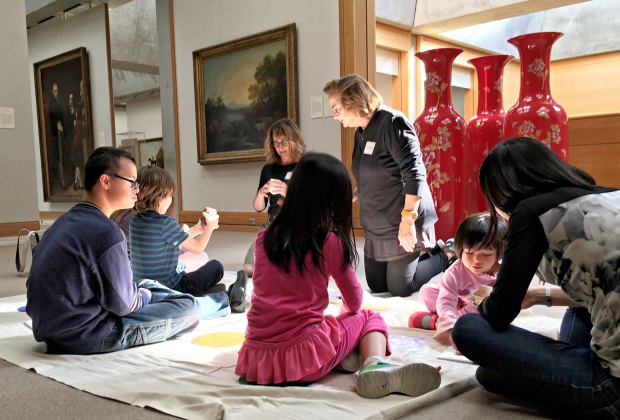 Children with autism are invited on a private tour and workshop at the Yale Center for British Art. Photo courtesy of the museum