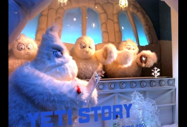 Saks Fifth Avenue's adorable yeti windows were definitely one of our favorites!