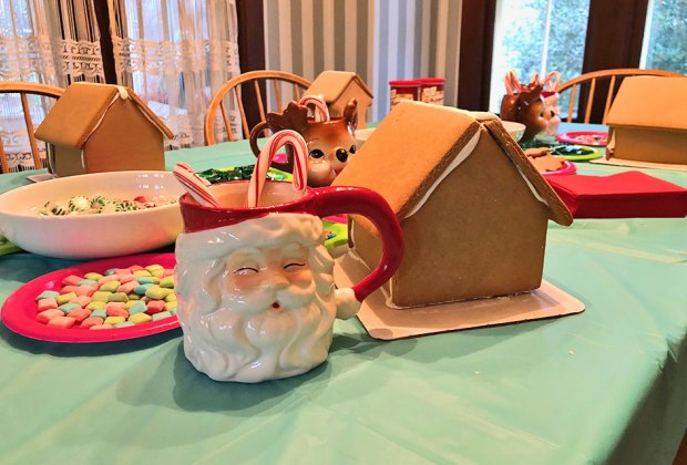 Gingerbread house Christmas traditions
