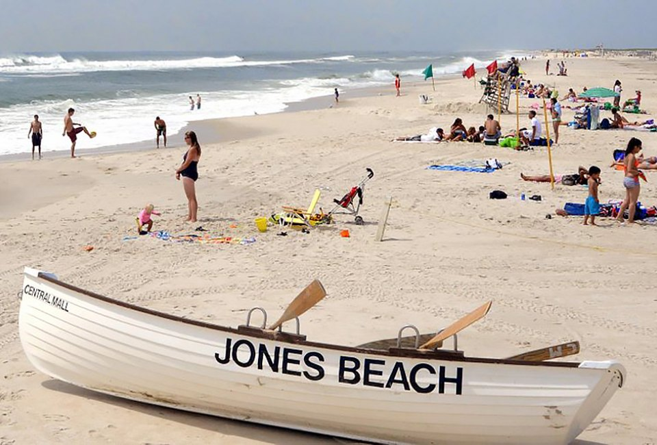 Enjoy the sand and surf at Jones Beach in Nassau County. Photo courtesy of New York State Parks