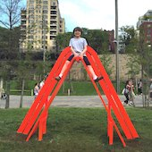 Things to do with kids: Brooklyn Bridge Park's New Installation: Engaging Art You Can Splash In & Slide Down