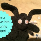 Things to do with kids: WeeWork Kids Crafts: Clever Glove Bunny Puppet