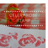 Things to do with kids: Valentine's Day Craft: Celery Stamp Roses