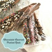 Things to do with kids: Easy Homemade Gift: Chocolate-Covered Pretzels