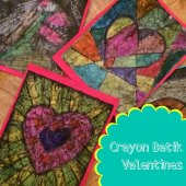 Things to do with kids: Kids Craft: Crayon Batik Valentines