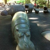Things to do with kids: Destination Playground: Hippo Playground in Riverside Park