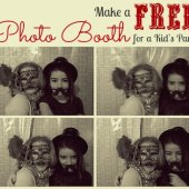 Things to do with kids: How to Make a Free Photo Booth for a Kids' Party