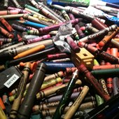 Things to do with kids: Home Made Coloring Books and Recycled Crayons