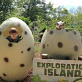 Things to do with kids: Weekend Trip: Hang with the Dinosaurs at Dutch Wonderland Amusement Park's Brand-new Exploration Island