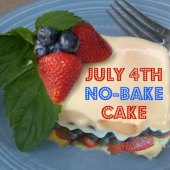 Things to do with kids: Easy 4th of July Recipe: Patriotic No-Bake Icebox Cake