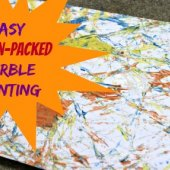 Things to do with kids: WeeWork Craft Activity: Marble Painting for Preschoolers