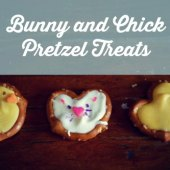 Things to do with kids: Easy Bunny and Chick Pretzel Easter Treats