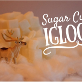 Things to do with kids: Winter Kids Craft: Sugar Cube Igloos