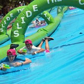 Things to do with kids: NYC's Summer Streets Kick Off Saturday with a Mega Water Slide