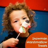 Things to do with kids: Make Marshmallow Snowman Treats