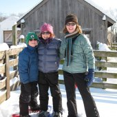 Snowshoeing at Gore Place
