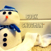 Things to do with kids: Easy Kids Craft: Sock Snowmen