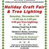 Chelsea Outdoor Tree Lighting & Holiday Fair