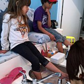 Things to do with kids: Pamper Your Littlest New Yorkers at Milk & Cookies Spa and Salon