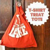 Things to do with kids: DIY No-Sew Up-Cycled Halloween Trick-or-Treat Tote