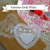 Things to do with kids: Preschool Craft: Valentine's Day Doily Prints