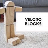 Things to do with kids: Make: Velcro Blocks Take Block Building in New Directions